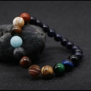 Planets Natural Stone Bracelet